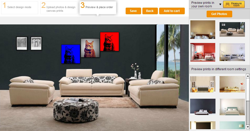 ③ Your WOW Canvas Design Can Now Be Previewed In Your Own Room Environment  IN THE CORRECT SCALE! Part 98